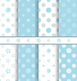 cute bapatterns set - seamless boy blue texture vector image