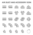 Duct pipe icon vector image vector image