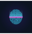 Fingerprint electronic scanning identification vector image