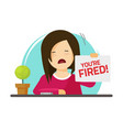 fired from job flat cartoon vector image
