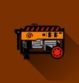 gasoline generator flat vector image