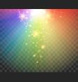 gradient spectrum rainbow lights vector image vector image
