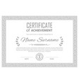 grey pattern border certificate business simple vector image vector image