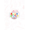 happy easter colorful background with eggs vector image vector image