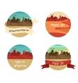 Happy holidays in hebrew greeting card design vector image vector image
