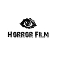 horror film with eye vector image