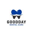 human dental health logo design vector image vector image