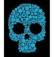 Human skull with flower elements vector image vector image