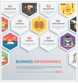 Infographic of brainstorm strategy start up vector image vector image