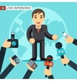 Interview vector image vector image