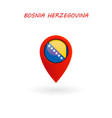 location icon for bosnia flag vector image vector image