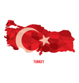 Map of Republic Of Turkey vector image vector image