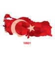 Map of Republic Of Turkey vector image