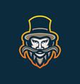 mustache man esport gaming mascot logo template vector image