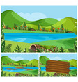nature scenes with mountains and river vector image vector image
