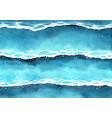 ocean wave watercolor painting background vector image