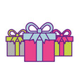 online shopping commerce marketing gift boxes vector image