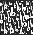 pattern with calligraphy letters b vector image