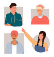 people characters multinational individuals a vector image