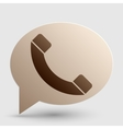 Phone sign Brown gradient icon on vector image