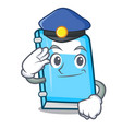 police education character cartoon style vector image