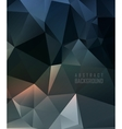 polygonal design vector image