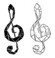 polygonal musical symbol vector image vector image