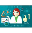 Profession scientist with icon elements of vector image vector image