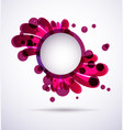 purple splach background vector image