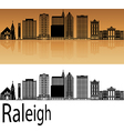 Raleigh V2 skyline in orange vector image vector image