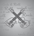 rock and roll guitar theme vector image