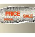 sale discount advertisement vector image vector image
