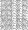 Seamless Ribbing Stitch pattern vector image vector image