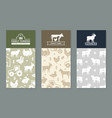 set banners with backgrounds on rural vector image vector image