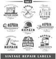 set of vintage repair labels vol1 vector image