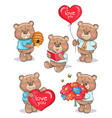 soft fluffy teddies set male characters collection vector image vector image