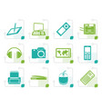 stylized hi-tech technical equipment icons vector image vector image