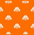 sword pattern orange vector image