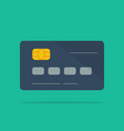 template bank credit card with shadow on green vector image vector image
