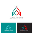 triangle construction company logo vector image