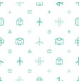 turbine icons pattern seamless white background vector image vector image
