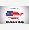 united states of america welcome to text and vector image
