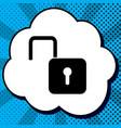 unlock sign black icon in vector image vector image