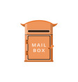 vintage postal mail box post services flat vector image vector image