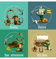 Wild West Adventures Icons Set vector image