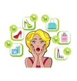 Woman Speech Bubble Sale Design Flat vector image vector image