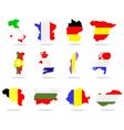 European maps vector image