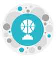 of education symbol on b-ball vector image