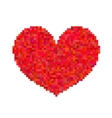 Pixel heart isolated on white background vector image
