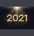 2021 number with golden glitter for new year vector image vector image